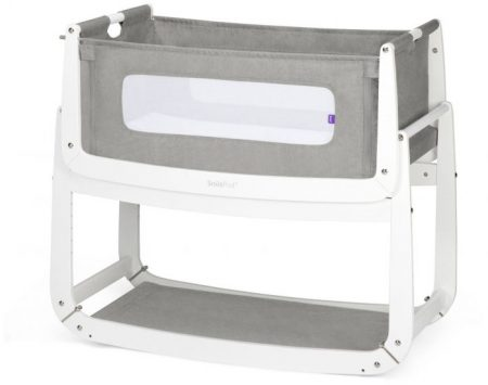 Snüzpod 3 Bedside Crib 0-6 Months with mattress - Dusk Grey