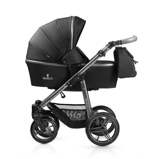 Venicci Carbo Black Pram Travel System