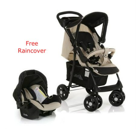 Hauck Shopper Shop n Drive Travel System Pushchair & Car Seat Almond