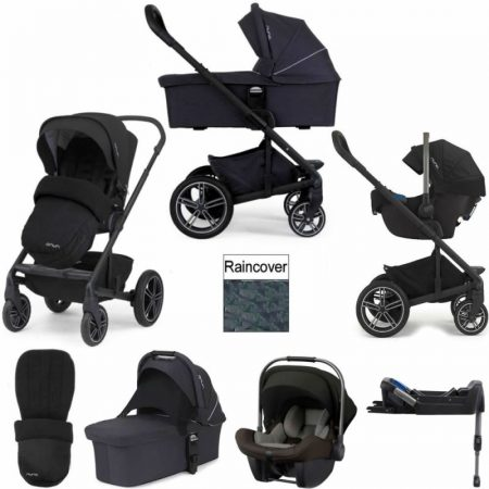 Nuna Mixx 2 & Pipa Lite 3in1 Travel System Black 2018 Package