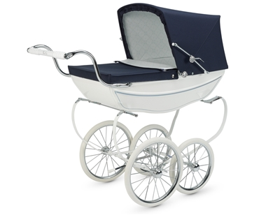 Silver Cross Dolls Pram - Oberon White