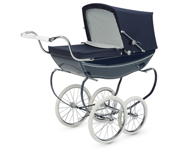 Silver Cross Dolls Pram - Oberon Navy - FREE Tray