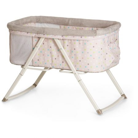 Hauck Dreamer Rocking Crib - Multi Dots Sand