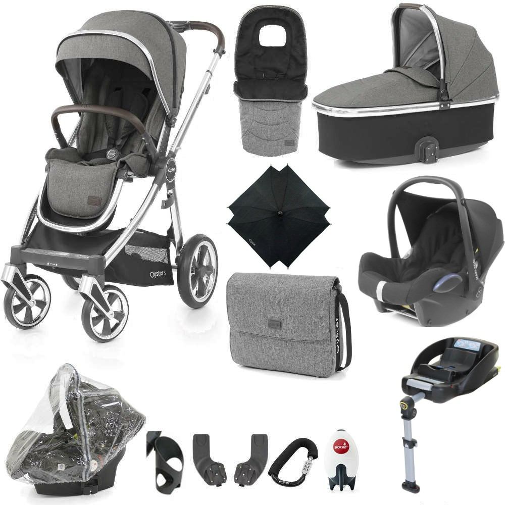Babystyle Oyster 3 – Ultimate 12 Piece Bundle with Maxi Cosi Cabriofix