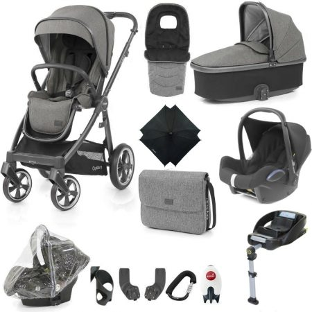 Babystyle Oyster 3 Mercury/City Grey Ultimate 12 Piece Bundle + Maxi Cosi