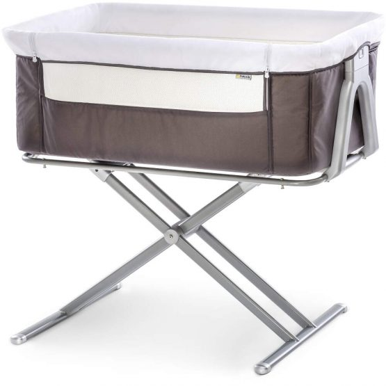Hauck Face to Me bedside Crib_Grey