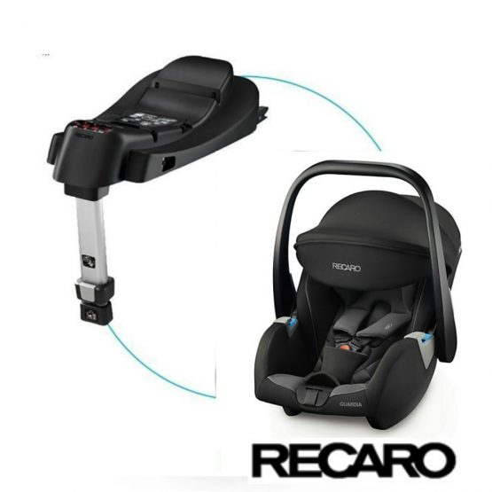 Recaro Guardia Carbon car seat with isofix base