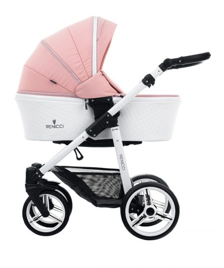 Venicci Pure Rose Pushchair, Carrycot & Car Seat