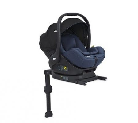 Joie i-Level iSize 0+ lie flat Car Seat and ISOFIX Base - Navy Blazer