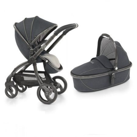 Egg Carbon Grey Pushchair, Carrycot & liner Ex Display