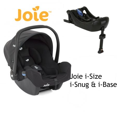 Joie i-Size i-Snug Car Seat Coal & Isofix i-Base - From birth to 13kgs