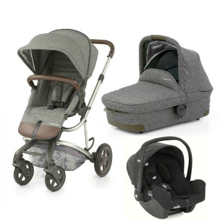 Babystyle Hybrid Edge Pushchair & Carrycot in Stonewash + Joie I-Snug Car Seat