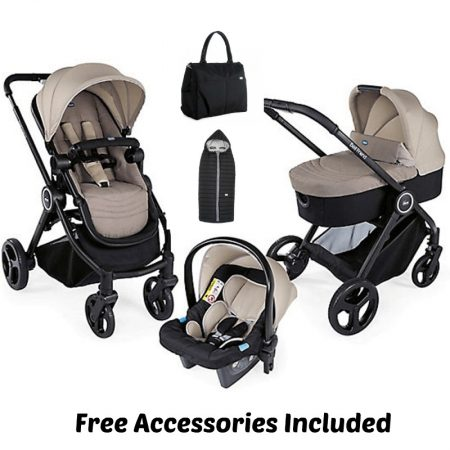 Chicco Trio Best Friend Travel System - Beige - FREE ACCESSORIES