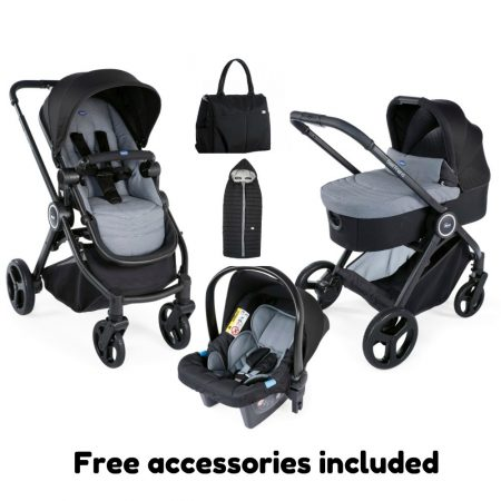 Chicco Trio Best Friend Travel System - Light Stone - FREE ACCESSORIES