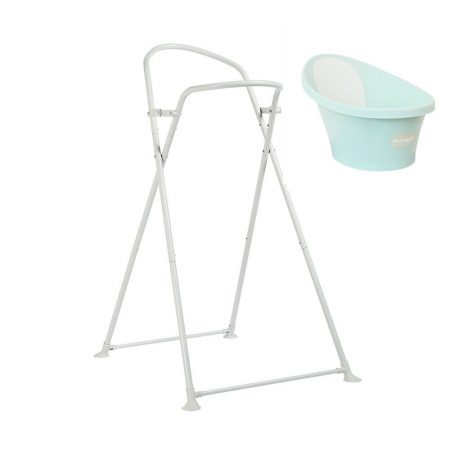 Shnuggle Baby Bath Blue & Foldable Stand From Birth -12 Months