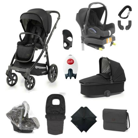Babystyle Oyster 3 Noir – Ultimate 12 Piece Bundle With Maxi Cosi Cabriofix