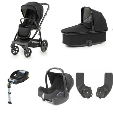 Babystyle Oyster 3 Noir– Essential 5 Piece Bundle With Maxi Cosi Cabriofix