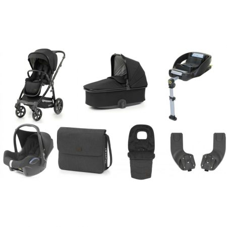 Babystyle Oyster 3 Noir – Luxury 7 Piece Bundle With Maxi Cosi Car Seat