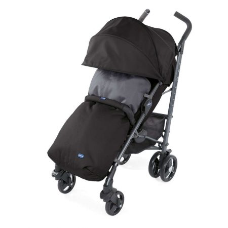 Chicco Liteway 3 Stroller Footmuff, Bumper Bar & Raincover From Birth - Jet Black