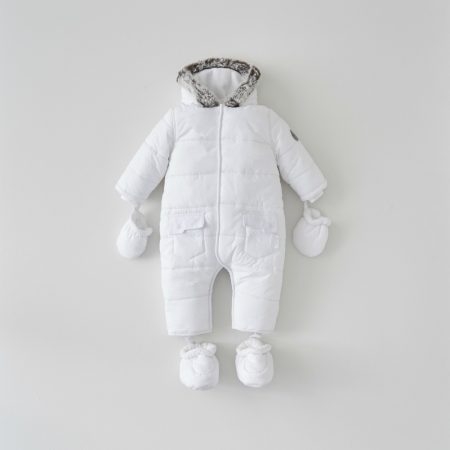 Silver Cross White Quilted Pramsuit