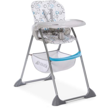 Hauck Sit n Fold Highchair - Blue Circles, Lightweight Removable Tray