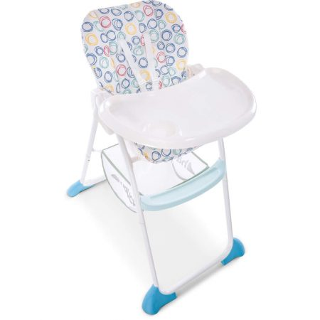 Hauck Sit n Fold Highchair - Multi Circles, Lightweight Removable Tray