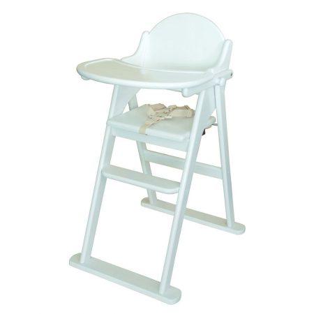 East Coast Wood Folding Highchair - White
