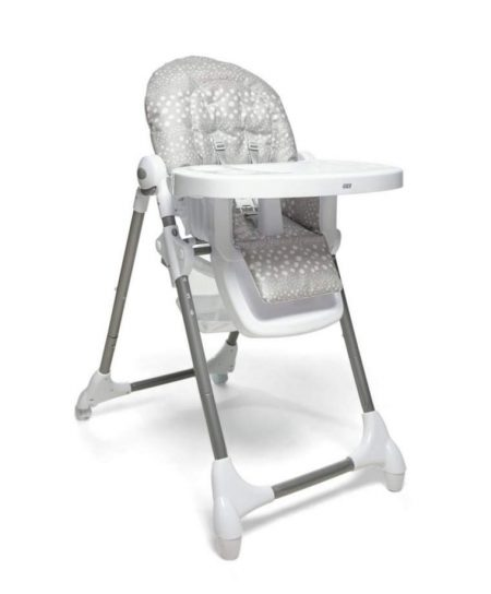 Mamas & Papas Snax Low / Highchair With Removable Tray - Grey Spot