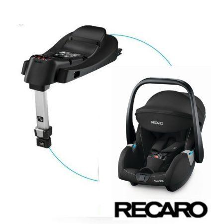 Recaro Guardia Hero Performance Black Car Seat + Isofix Base 0-13kg