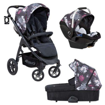 Hauck Saturn R Travel System. Pushchair Carrycot Car Seat - Wild Blooms