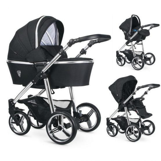 Venicci Silver Wild Black Special Edition Pushchair, Carrycot, and Car Seat