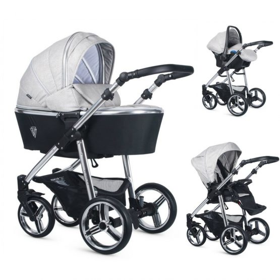 Venicci Silver Wild Grey Special Edition Pushchair, Carrycot, and Car Seat