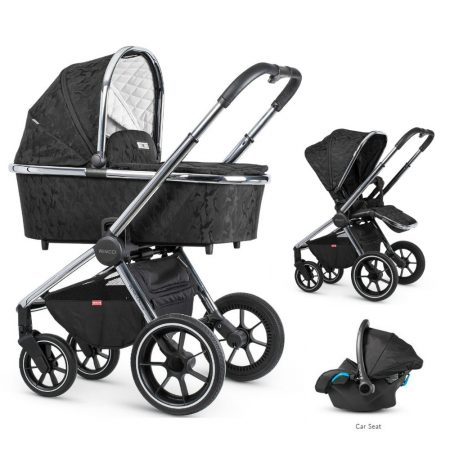 Venicci Tinum Camo Black Pram Bundle + Car Seat and Accessories