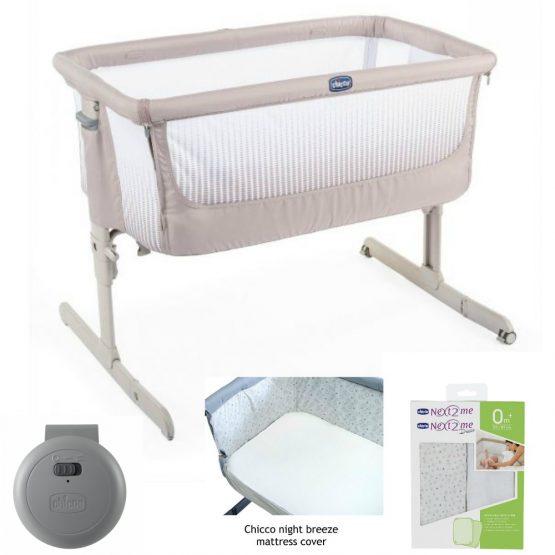 chicco-next2me-air-bedside-crib-dark-beige-bundle