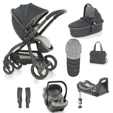 Egg Carbon Luxury 8 Piece Bundle - Bag, Footmuff, Egg Car Seat & Base