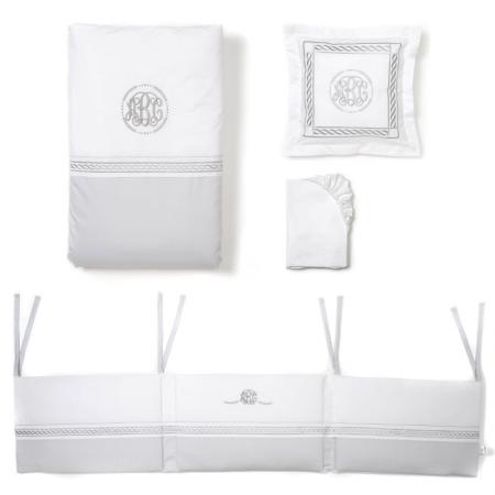 Mee-go 5 Piece ABC Grey / White Bedding Bale