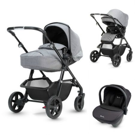 Silver Cross Horizon Moonlight Grey Pramette , Pushchair & Car Seat