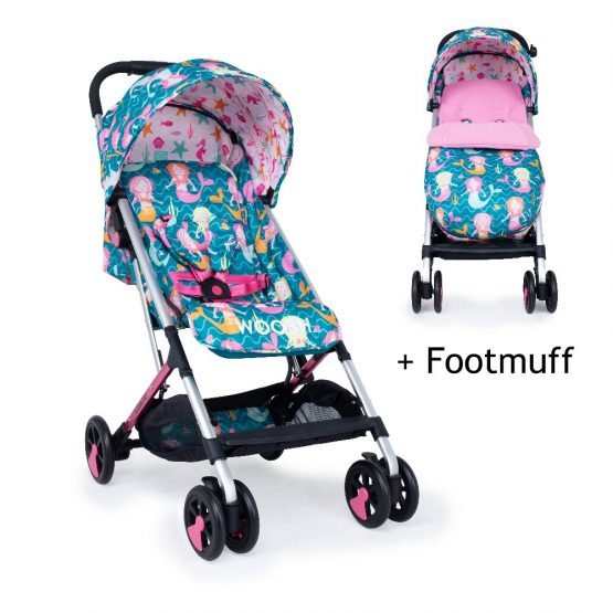 Cosatto Woosh Stroller buggy with Footmuff Mini Mermaids