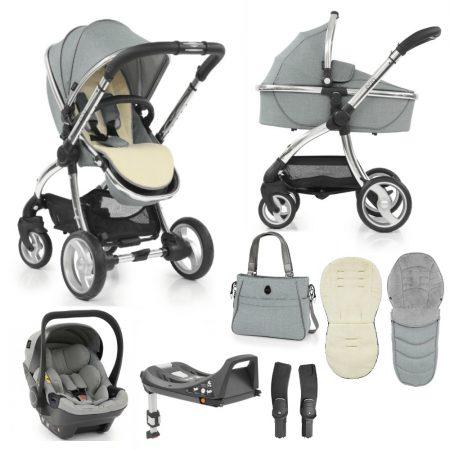 Egg Platinum 8 Piece Bundle - Bag, Footmuff, Egg Car Seat & Base