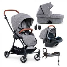 Hauck Eagle 4S Travel System with car seat and base - Melange Grey