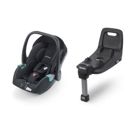 Recaro Avan i-Size Car Seat - Prime Mat Black & Isofix Base