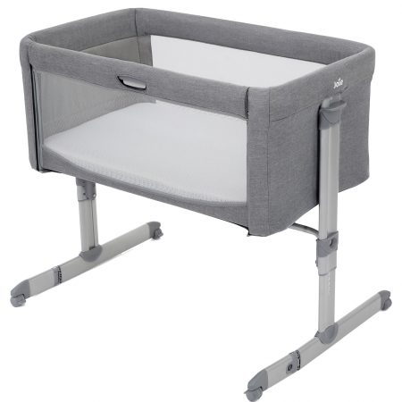 Joie Roomie Bedside Crib - Grey Flannel