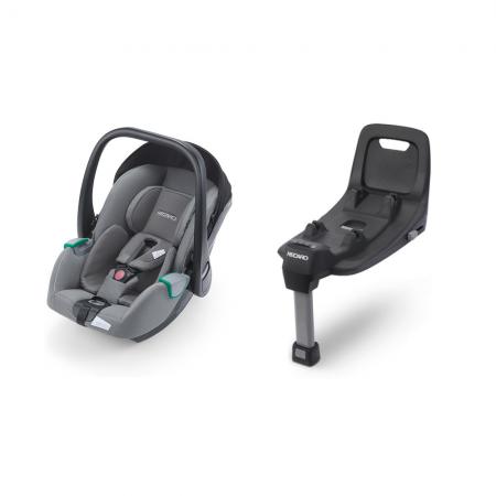 Recaro Avan i-Size Car Seat - Prime Silent Grey & Isofix Base