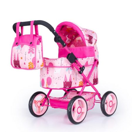 Cosatto Cabi Dolls Pram Unicorn Land Pink with Bag