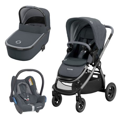 Maxi Cosi Adorra, Oria Carrycot, Cabriofix Car Seat Package Essential Graphite