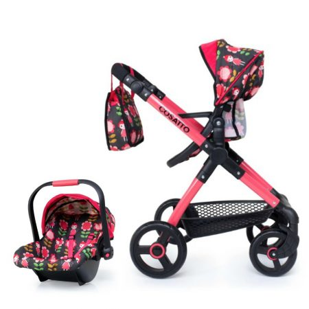 Cosatto Me-Mo Dolls Pram and Car Seat System Fairy Garden