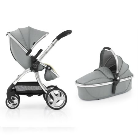 Egg 2 Stroller & Carrycot - Monument Grey+ Luxury Seat Liner & Raincover