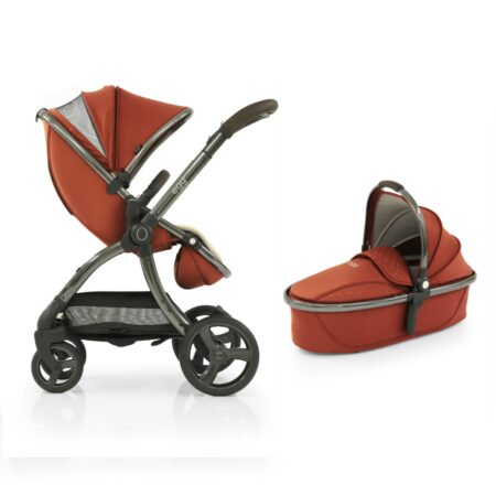 Egg 2 Stroller & Carrycot - Paprika+ Luxury Seat Liner & Raincover