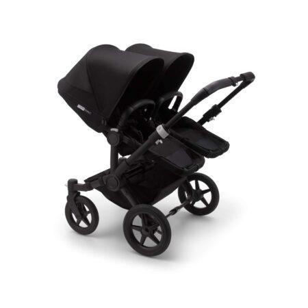 Bugaboo Donkey 3 Duo Black chassis all Black fabrics