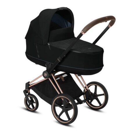 Cybex Priam Rose Gold  Deep Black Stroller and Carrycot